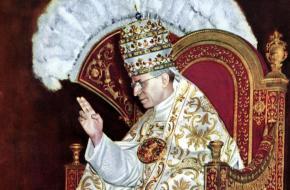 Paus Pius XII op de Sedia gestatoria in 1939