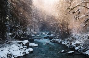 Wendigo Wildernis Canada Ongetemd Sneeuw