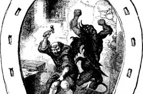 Sint Dunstan en de duivel