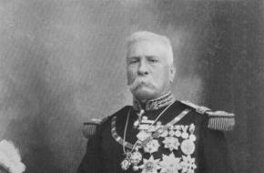 De Mexicaanse president Porfirio Diaz in uniform