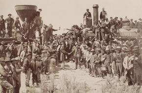 Transcontinental Railroad Utah 1869 Golden Spike
