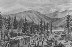 Donner Party kamp Truckee Lake