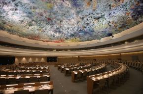 Vergaderzaal VN-Mensenrechtenraad Genève