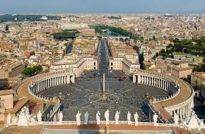 Uitzicht over Sint-Pietersplein in Vaticaanstad