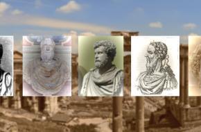 Pertinax,Didius Julianus, Clodius Albinus, Pescennius Niger, Septimius Severus, de vijf keizers van het vijfkeizerjaar