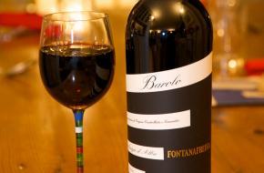 Barolo Glas Fles Wijn