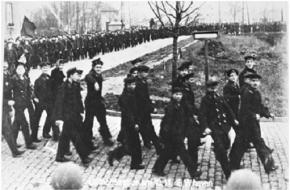 Demonstratie van de matrozen in Wilhelmshaven, 1918 (Wikimedia Commons)