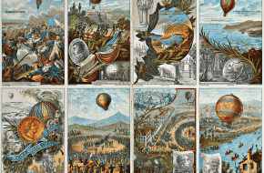 Verzamelkaarten met afbeeldingen van ballonnen