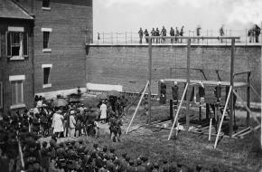Executie van samenzweerders tegen Lincoln