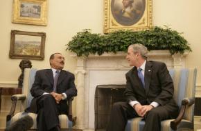 George Bush verwelkomt Ali Abdullah Saleh