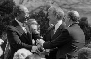 Sadat bij de Camp David akkoorden