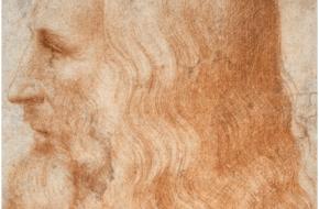 Een zelfportret van Da Vinci, dat vermoedelijk tussen 1512 en 1515 geschilderd is.