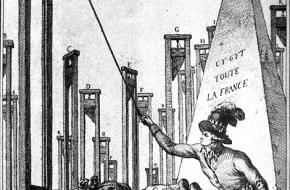 Robespierre onthoofdt de laatste beul