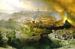 Belegering en verwoesting van Jeruzalem (David Roberts, 1850)