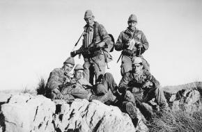 Enkele soldaten uit het Franse leger in Algerije.