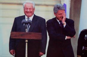 Yeltsin en Clinton
