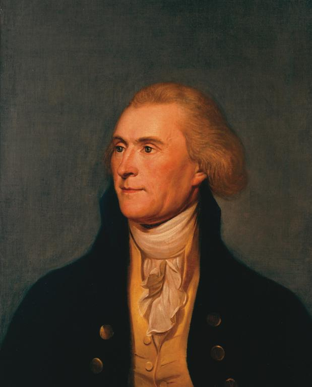Portret van Thomas Jefferson